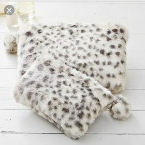 Pottery Barn Teen Faux Fur Pouches - Set of 2